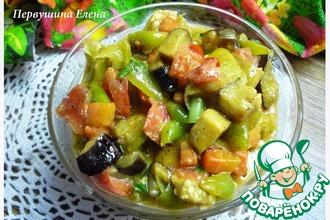 Овощи в сливочно-соевом соусе