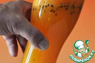 Апельсиново-морковный сок с чёрным кунжутом