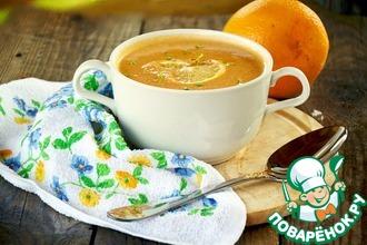 Суп-крем из семги с апельсиновым соком