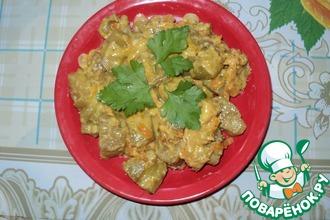 Нежные баклажаны в творожно-арахисовом соусе