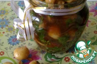 Маринованные шампиньоны в соевом соусе по-корейски
