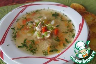 Овощной суп с курочкой и кус-кусом