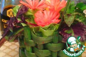 """Овощной салат """" Зеленая корзина"""""""