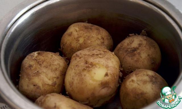 Картофель отварить до готовности. После закипания 20 минут.