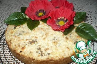 Творожный пирог с маковыми шариками