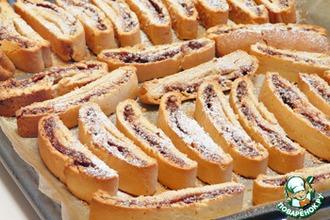 Бискотти с начинкой из шоколада, сгущенки и грецких орехов