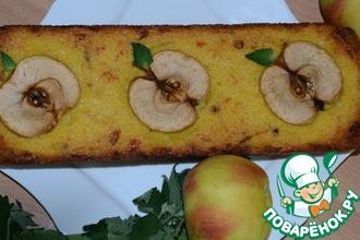 Киккомановский яблочно-кукурузный кекс с сыром, луком и соевым соусом