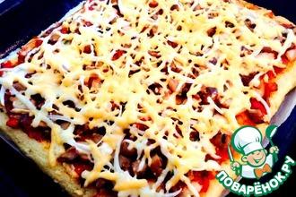 Оригинальная пицца на рисовом тесте