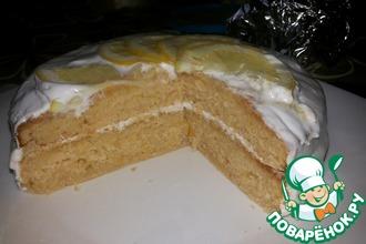 Лимонный кекс-торт