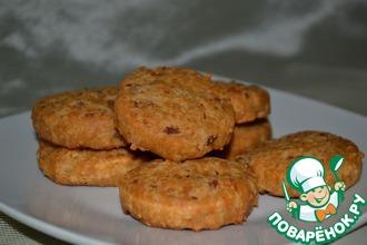 Сырное печенье (сабле) с беконом