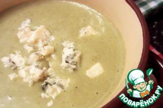Суп-пюре из щавеля с голубым сыром