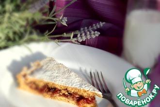 Малиново-ореховый пирог с кукурузной мукой
