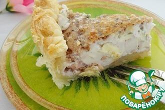Пирог с сырно-ореховым суфле