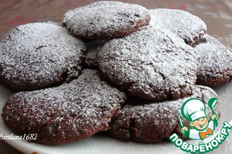 Постное шоколадно-смородиновое печенье
