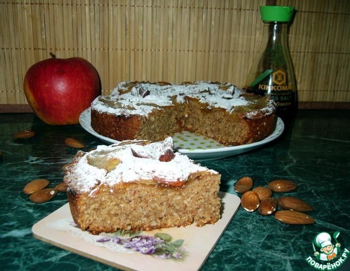 Постный яблочный пирог из цельнозерновой муки