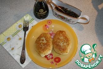 Картофельно-крахмальные пирожки с грибами и кускусом