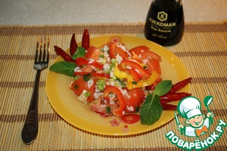 Салат из помидоров с рисом