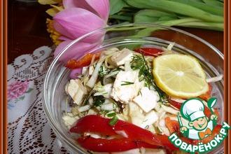 Салат на скорую руку из капусты
