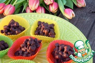 Конфеты с шоколадом, изюмом и маршмеллоу