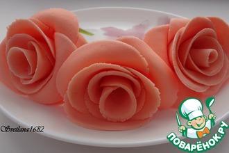 Роза из маршмеллоу