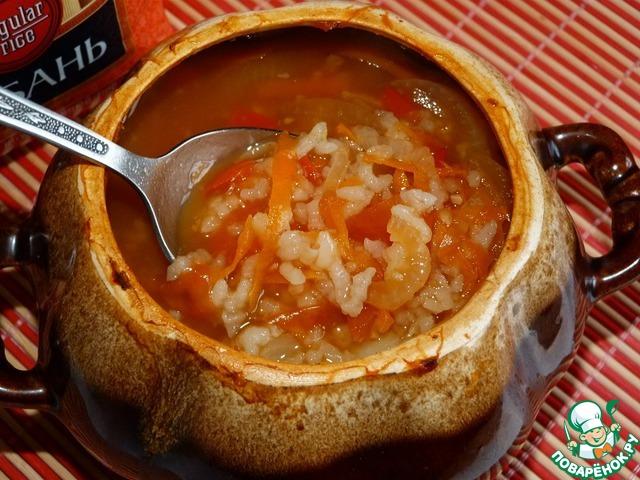 Ну вот, наш суп и готов!   По желанию добавить зелень.
