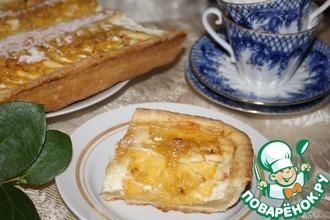 """Творожный тарт """"Солнечный"""" с ананасами и лимонным джемом"""