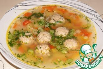 Суп с фрикадельками из консервированной горбуши
