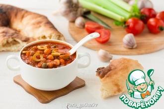 Густой томатный суп с нутом