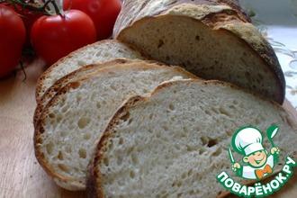 Белый хлеб на жидкой закваске