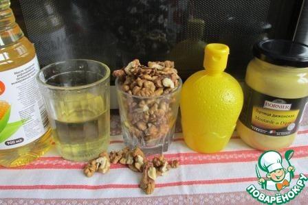 Главные ингредиенты это орехи и растительное масло.   Количество остальных варьируется по вкусу.     Если не любите сладковатые соусы, сахар можно не добавлять, а если любите поострее, положите горчицы побольше.    Но самое главное - достаточно мощный блендер с острыми ножами.