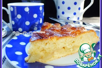 Пирог узорчатый с карамелизированными яблоками