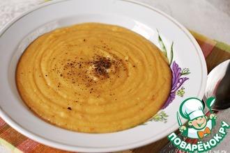 Острый овощной суп-пюре с чечевицей