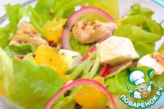 Салат с индейкой, апельсином и фетой
