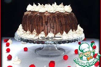 Торт шоколадно-кофейный с безе