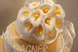 Каллы из сахарной мастики для тортов