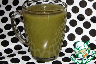 Зелёный коктейль с заячьей капустой