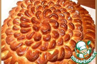 """Пирог """"Воздушные петельки"""" с ореховой начинкой"""
