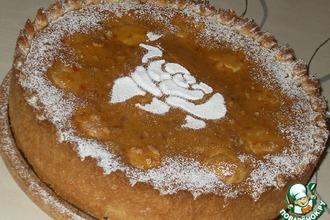 Яблочный пирог с абрикосовой глазурью