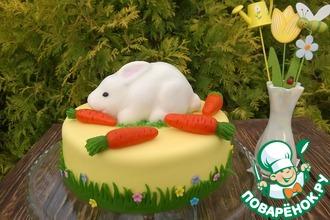 """Торт """"Кролик любит морковку"""""""