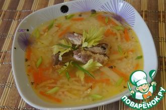 Суп из скумбрии с пшеном