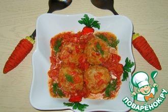 Тефтели с сыром в томатном соусе