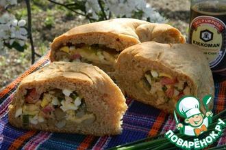 Хлеб с начинкой на пикник