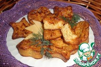 Закусочные маффины с сыром и ананасом