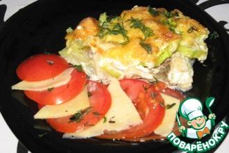 Запеканка слоеная из овощей и мяса