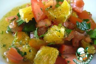 Апельсиново-томатный салат