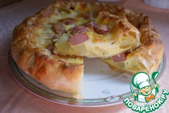 Пирог с картофелем и Wurstel