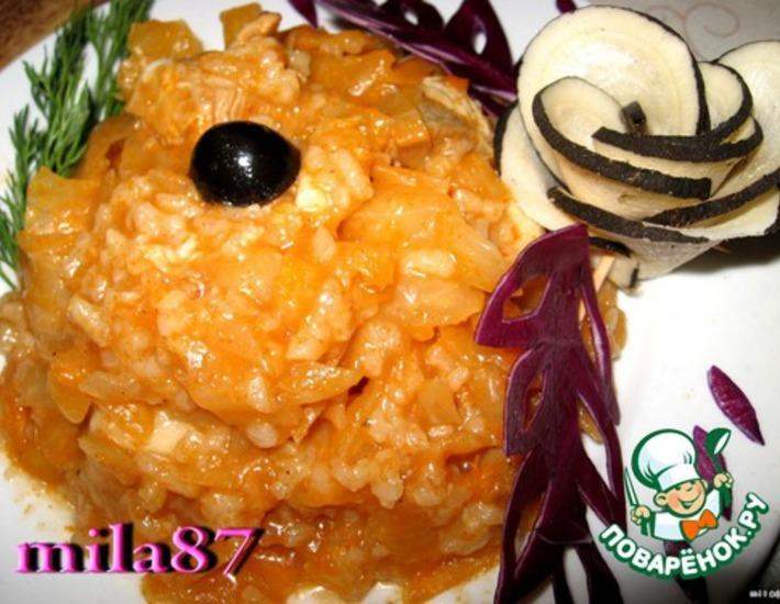 """Болгарское блюдо """"Зеле с ориз"""""""