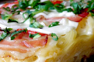Spaghetti-Cake или Пирог из спагетти