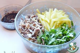 Салат из куриных желудочков по-корейски