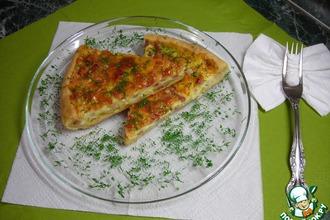Песочный пирог с грудинкой и сыром